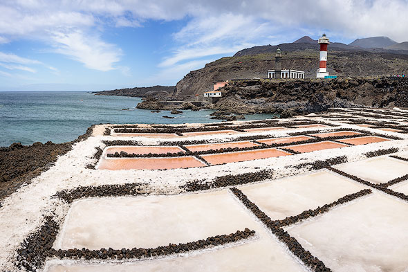 The saltpan of Fuencaliente at the southern tip of La Palma