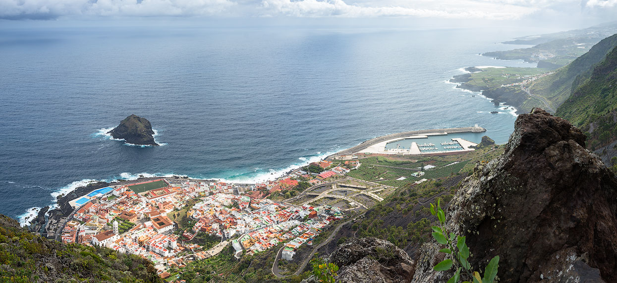 View of Garachico on the beautiful northwest coast of Tenerife